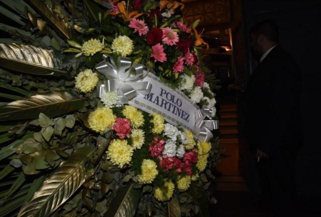 Polo Martínez se hizo presente a través de una corona de flores