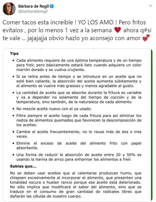 Barbara de Regil polemica tacos 3