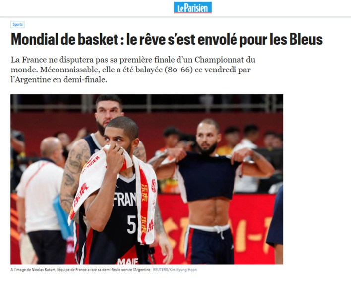le parisien final basquet