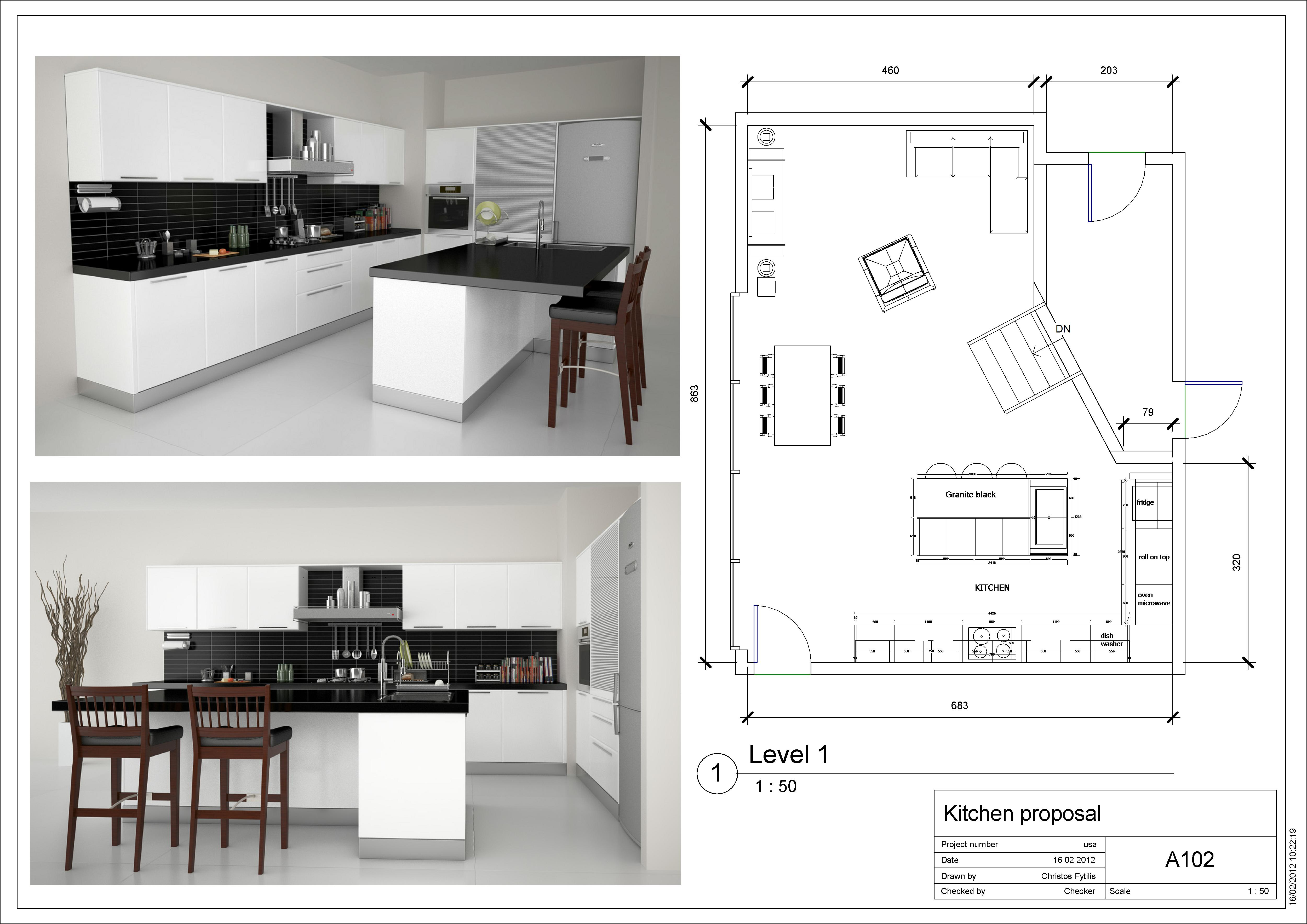 Small Kitchen Design Plans Layout / Roomsketcher Blog Plan Your ...