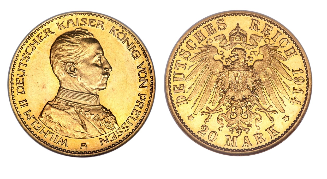Wilheim II (1914) 20 mark