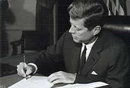 JFK Signing Exe Order