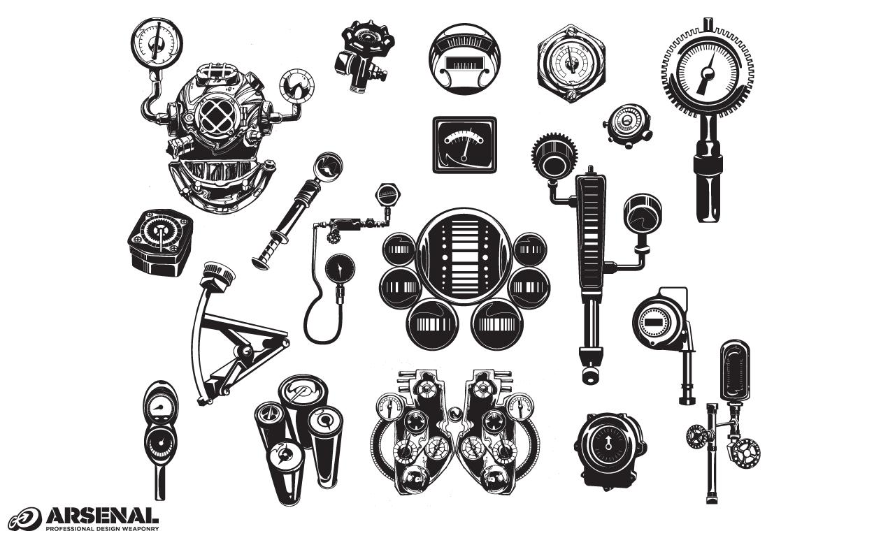 Machinery Vector Set 21 For Adobe Illustrator