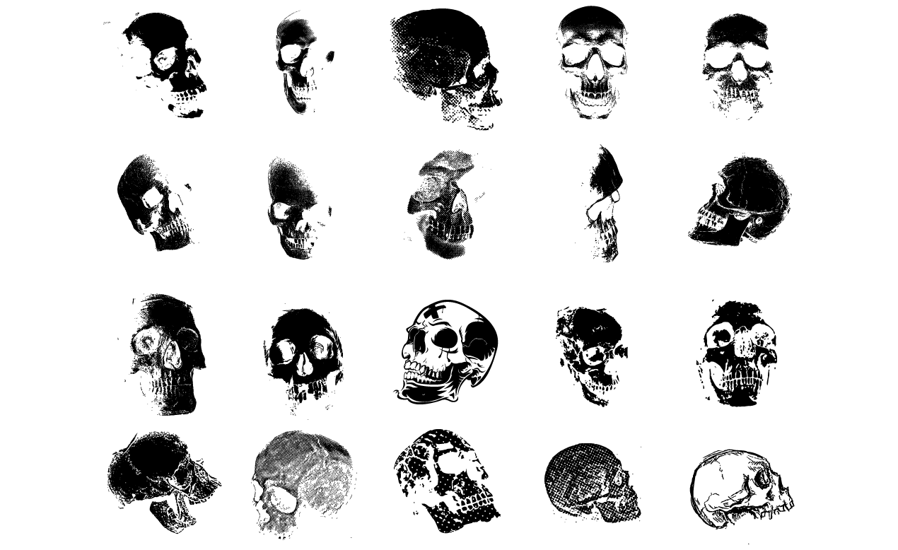 Adobe Illustrator Skull Vector Art Pack