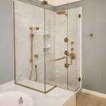 Tresor Frameless 3 8 Inch Glass Swing Door Inline Panel Return Panel Shower Door Basco Shower Doors