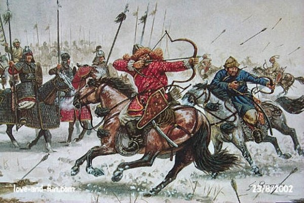 mongol archers