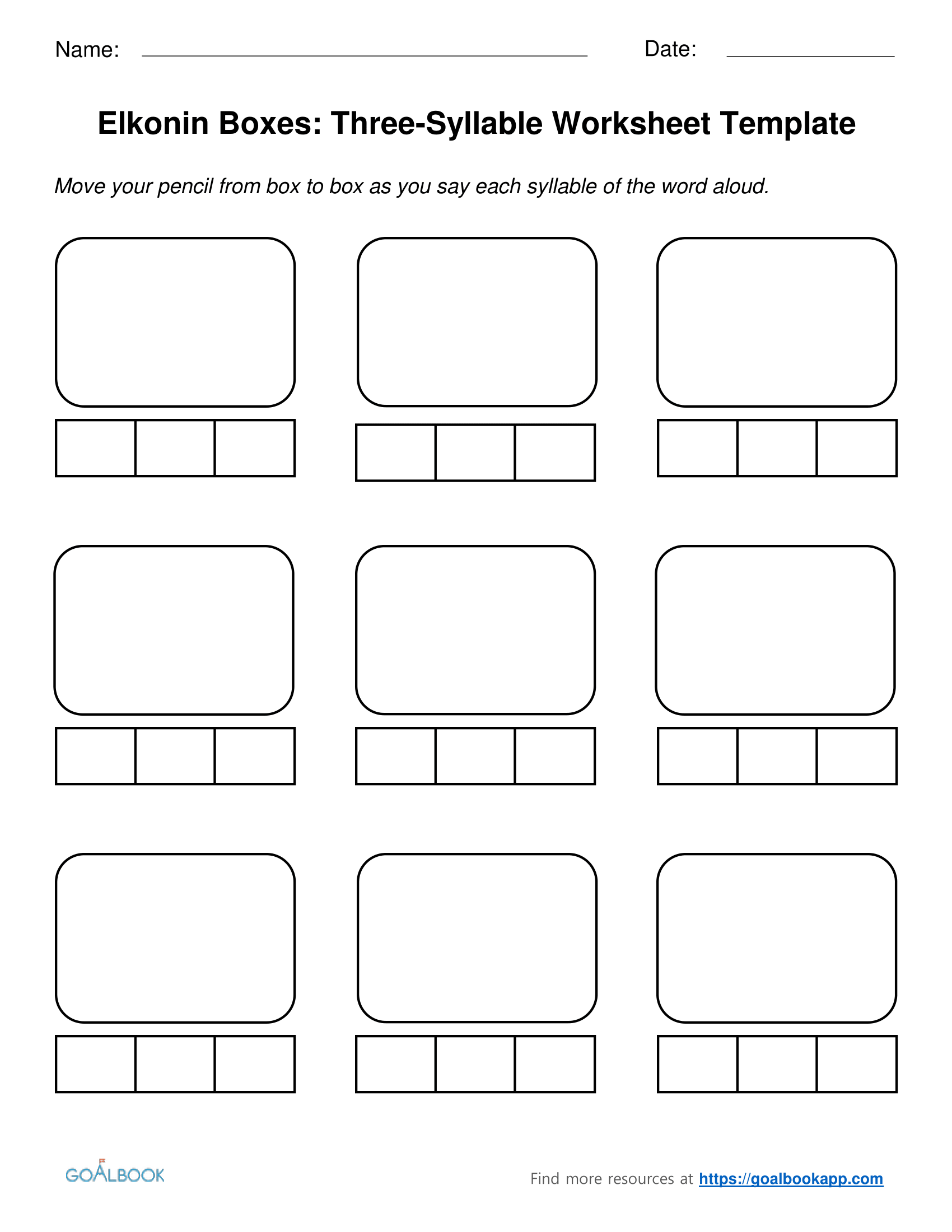 Syllable Worksheet Grade 4