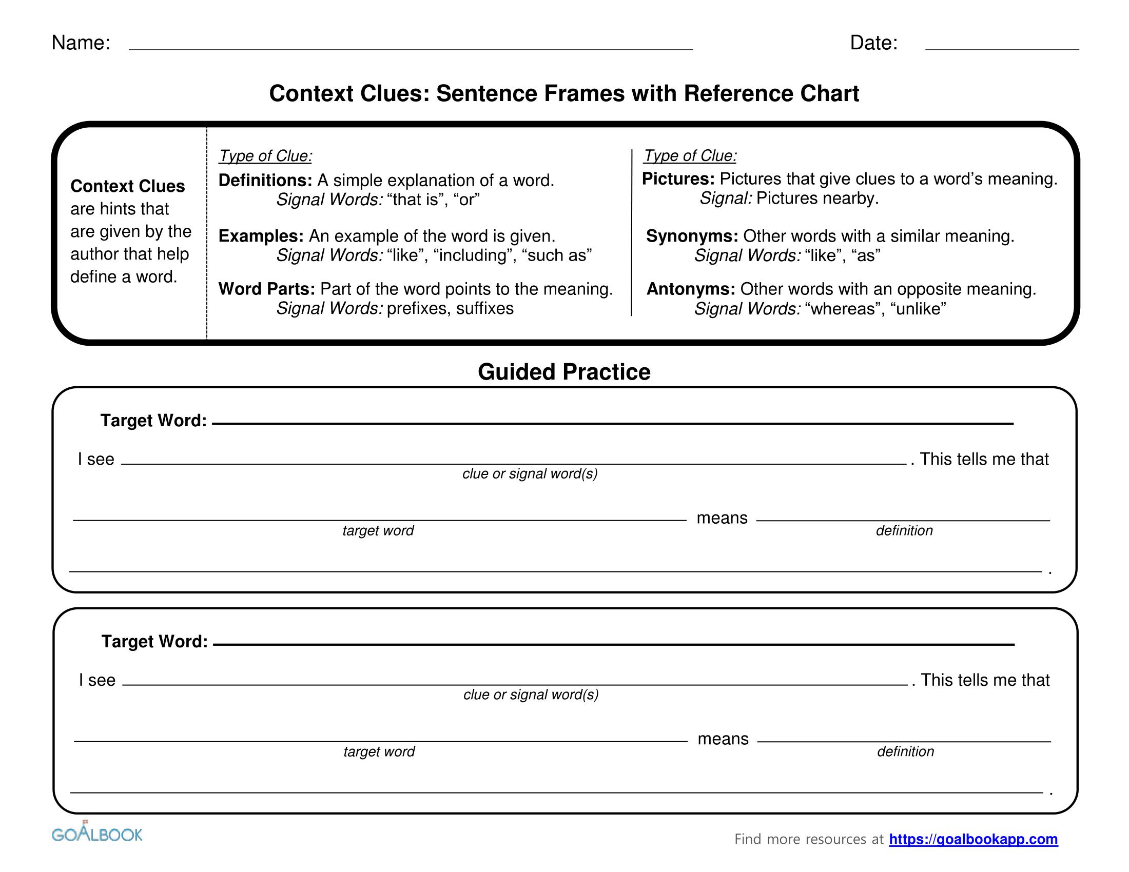 Context Clues Multiple Choice