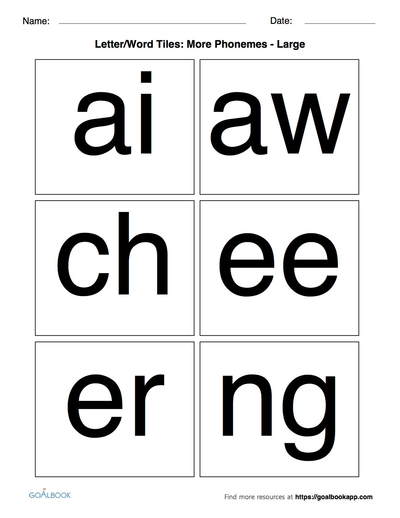 Letter Word Tiles