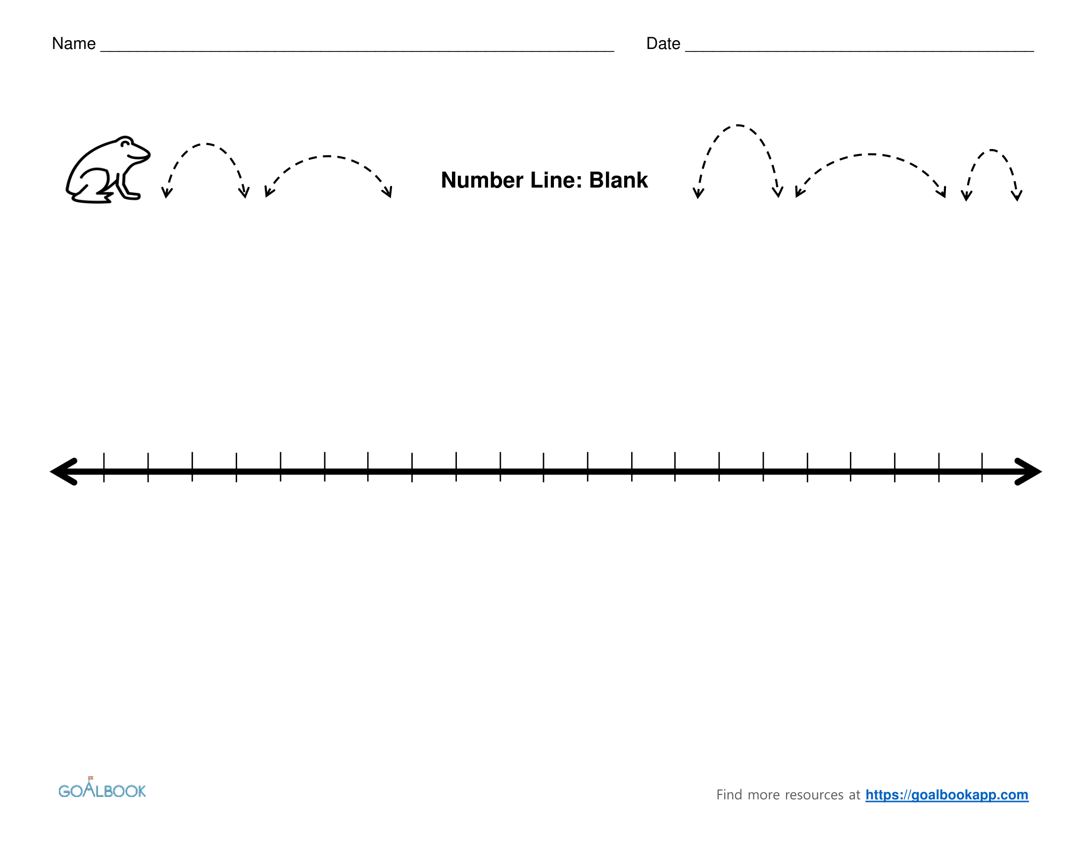 Worksheet Blank Number Line Worksheet Worksheet Fun
