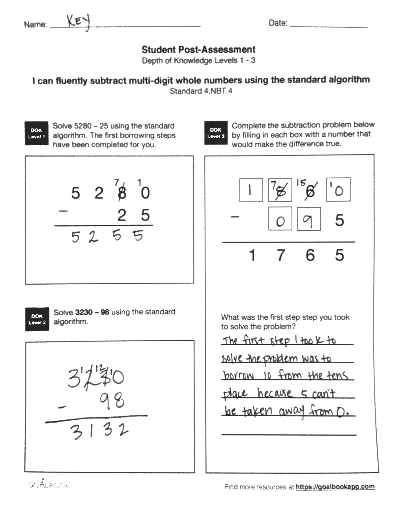 4 Nbt 4 Fluently Add And Subtract