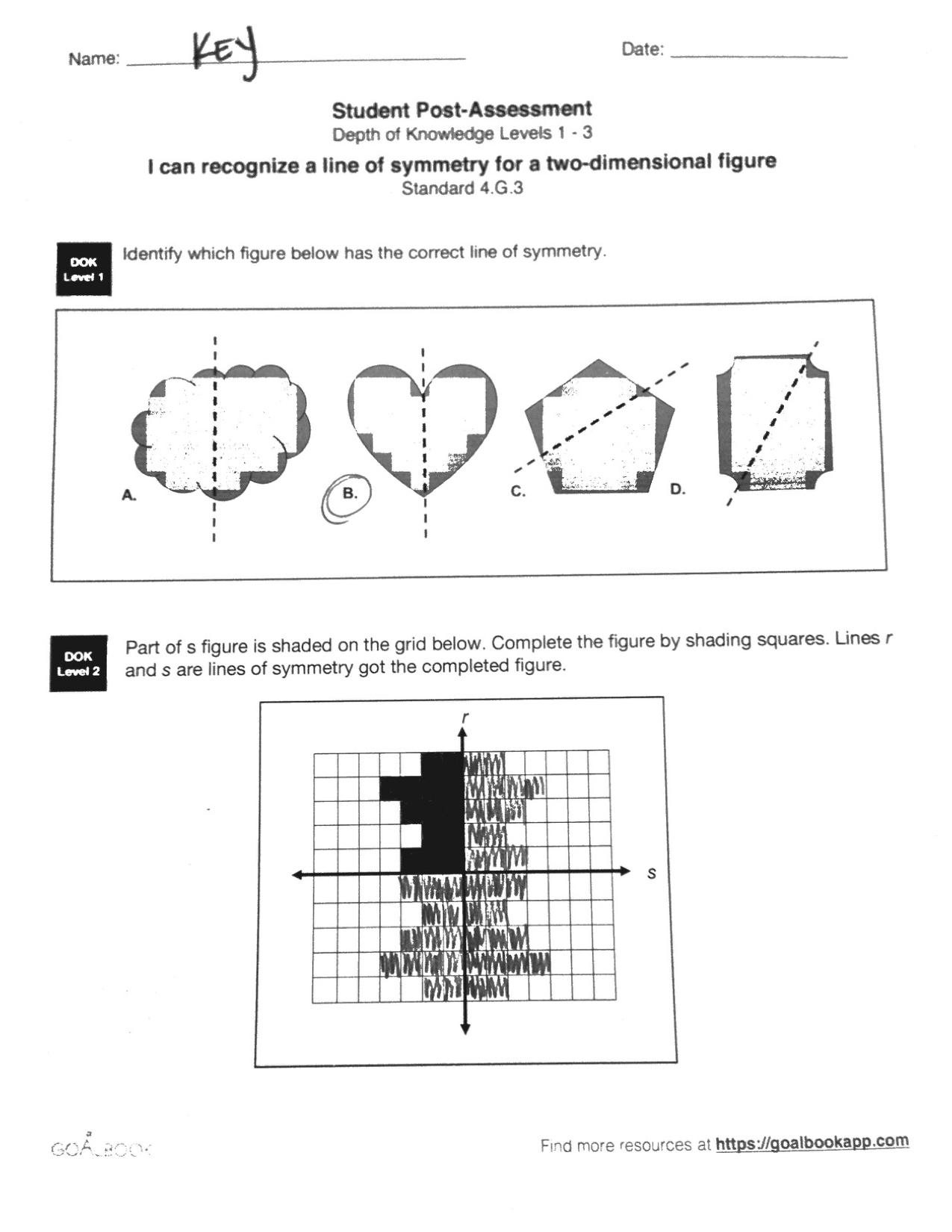 4 G 3 Line Of Symmetry