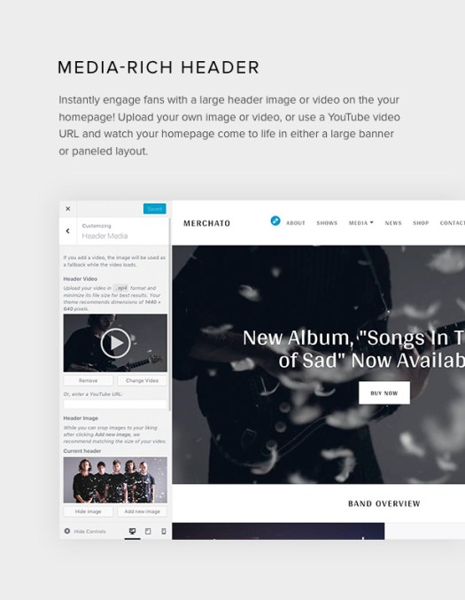 Merchato image and video headers