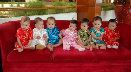 Eight china girls couch