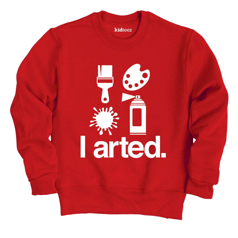 I Arted-Youth Crew Fleece Sweatshirt