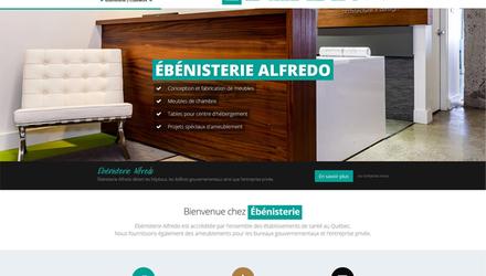 Site web d'entreprise - Ébénisterie Alfredo