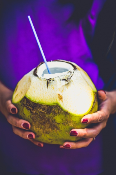 Pitta diet includes coconut water and other cooling foods.