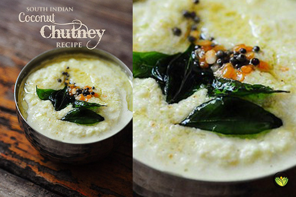 Traditional South Indian Coconut Chutney Recipe + Health Benefits