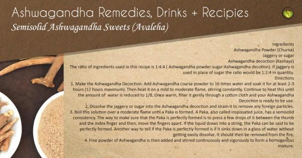 Semi-solid Ashwagandha sweets.