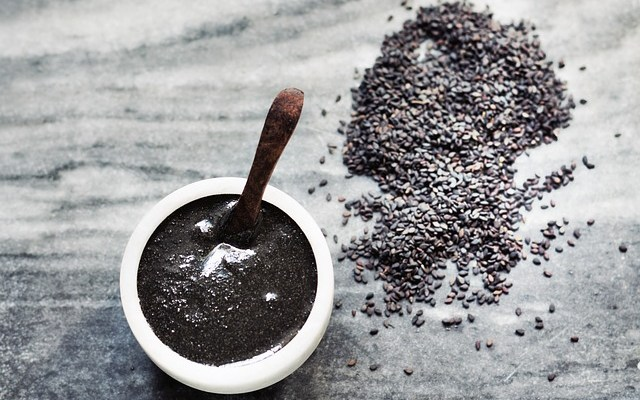 Black sesame seeds are high in health benefits. Read more sesame seeds benefits.