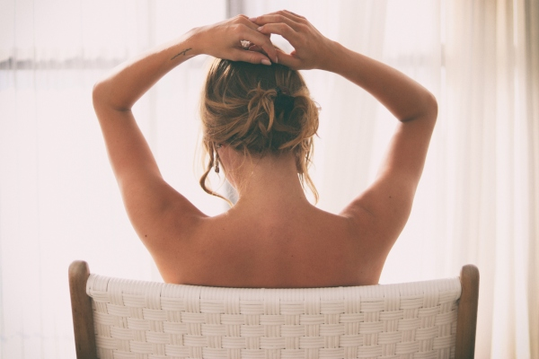 Breast massage for sagging breasts (saggy breasts).