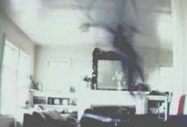 Demonic haunting in the living room