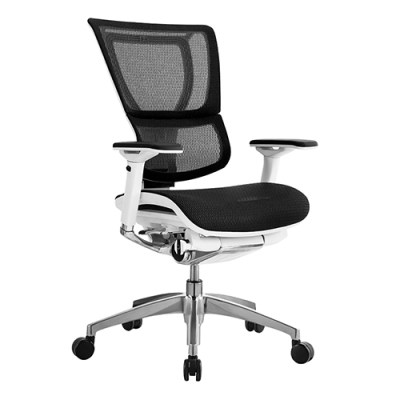 iOO Premium Chair White Frame Black Mesh Seating