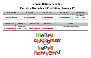 belmars-holiday-schedule