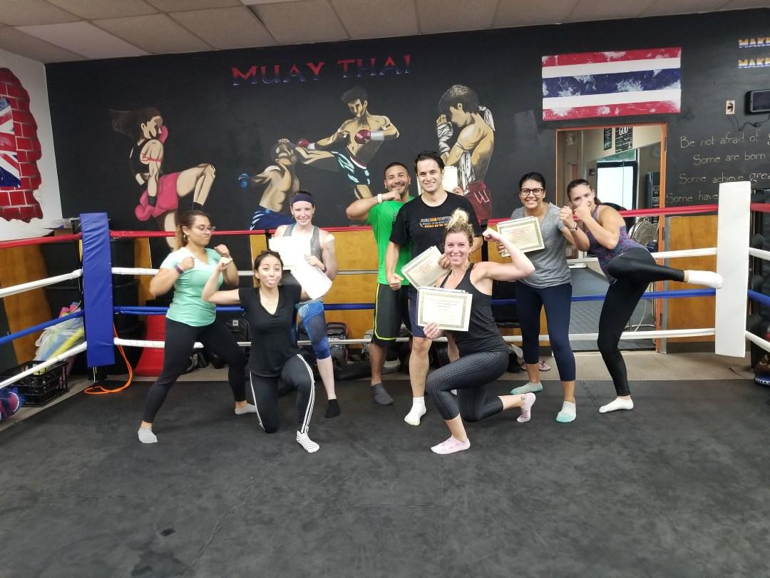 Beginners Muay Thai Kickboxing Graduation Class