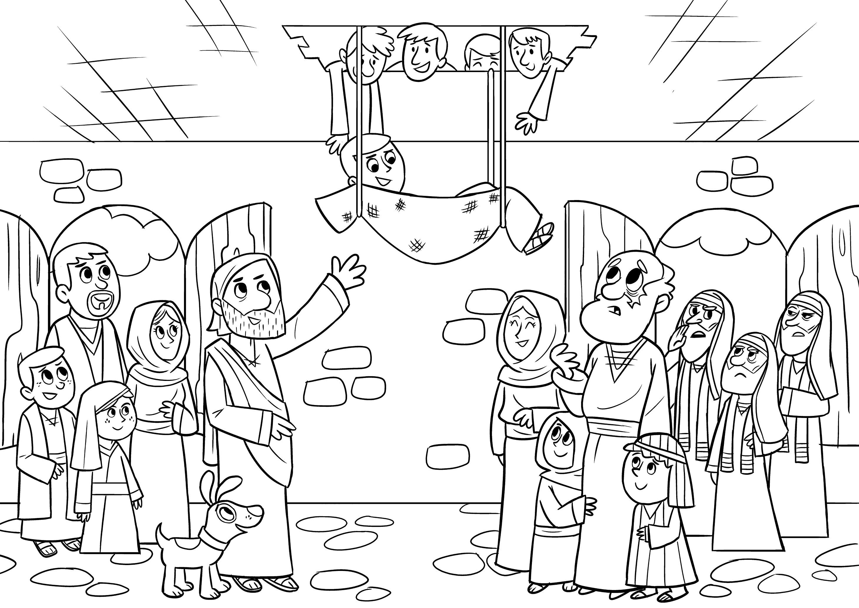 Unique Jesus Heals The Lame Man Coloring Page