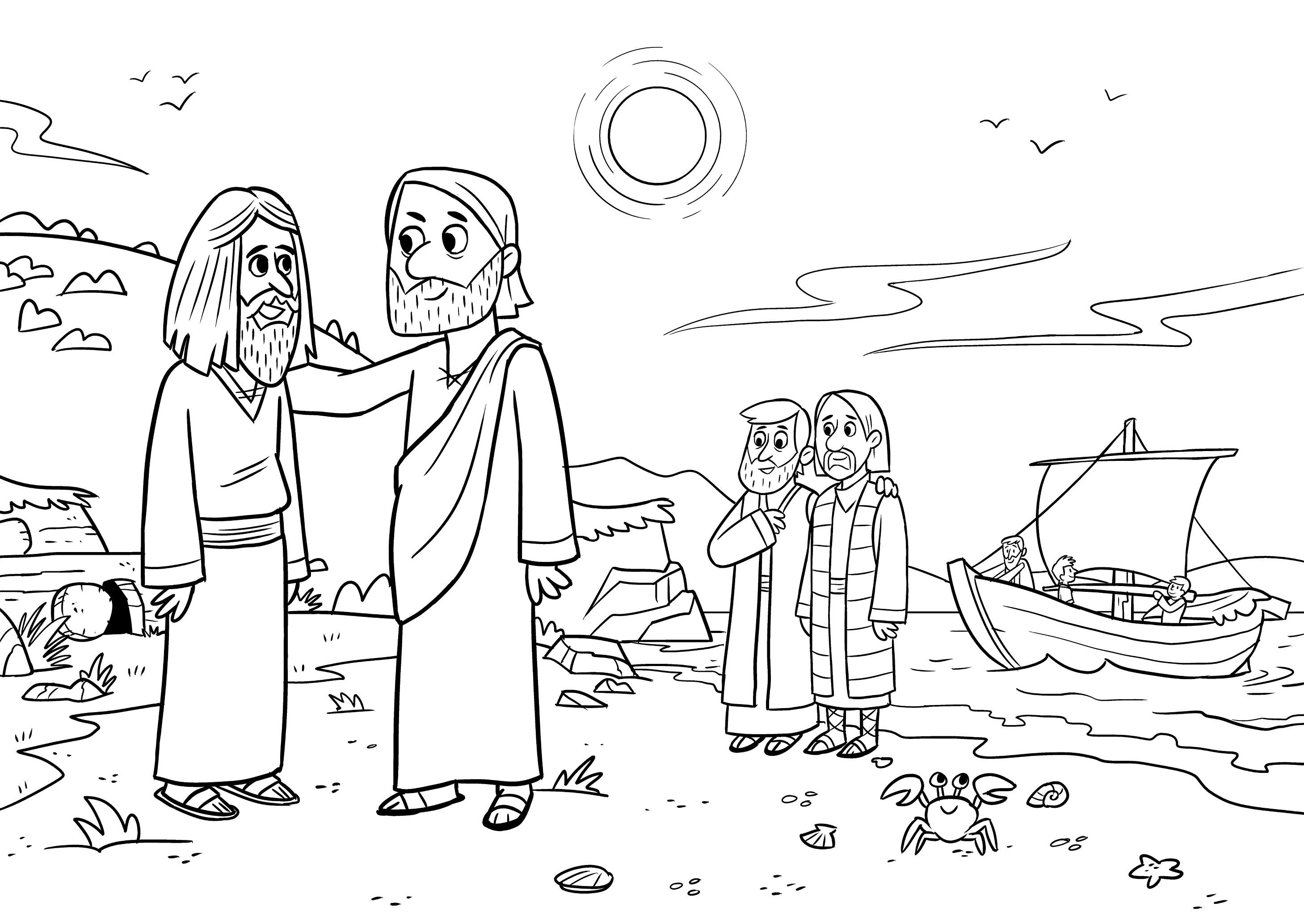 Gambar Jesus Casts Evil Spirits Bible App Kids Story