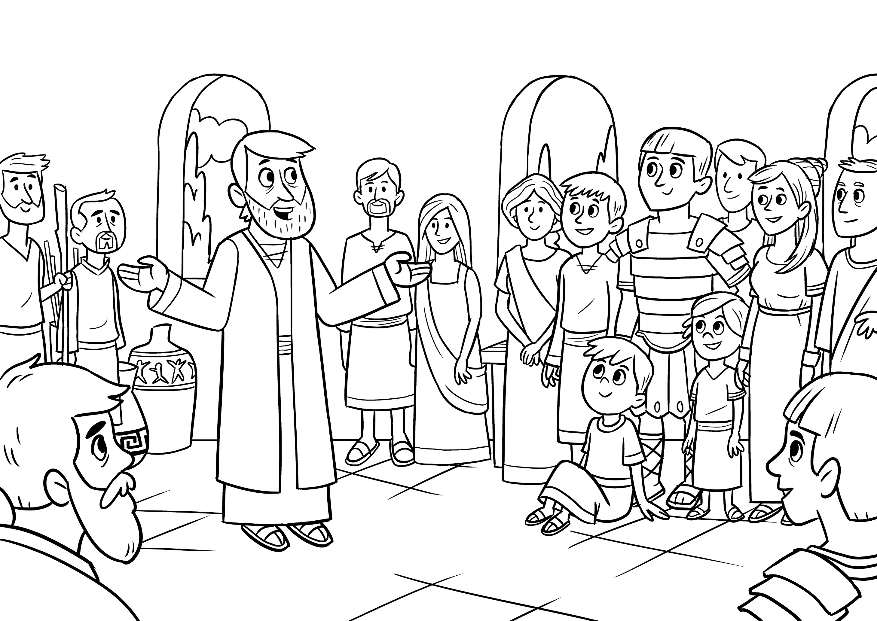 Cornelius Coloring Sheet Www Topsimages Com