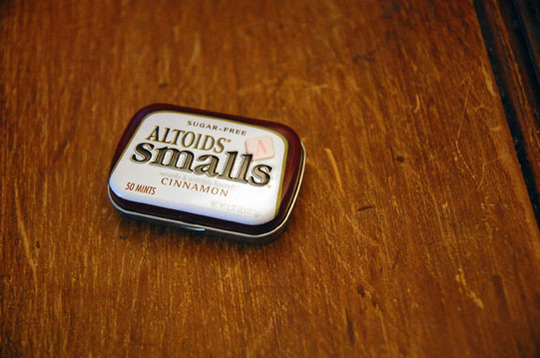 White Mint Altoid Square