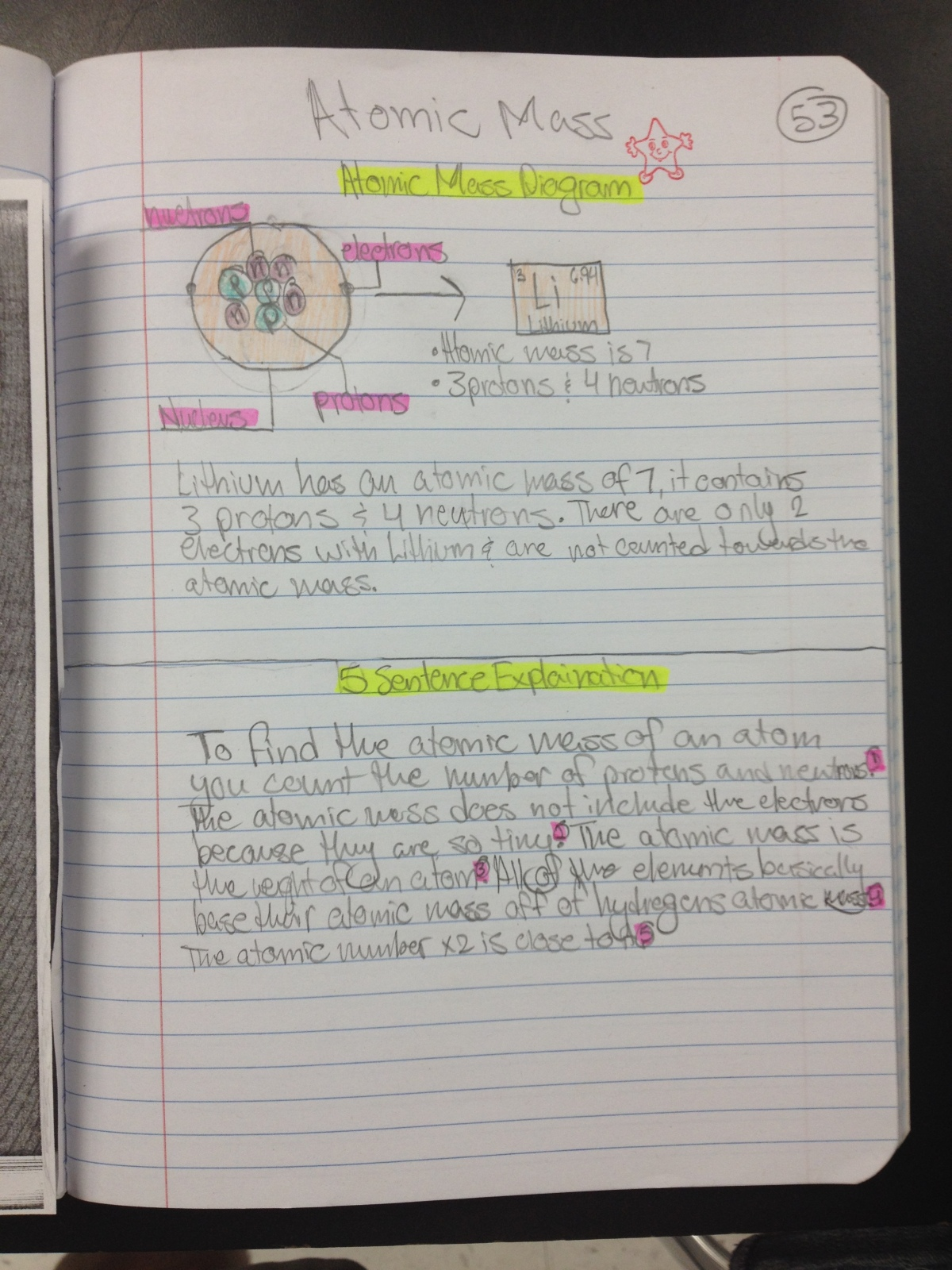 Eighth Grade Lesson Finding Atomic Mass Lab