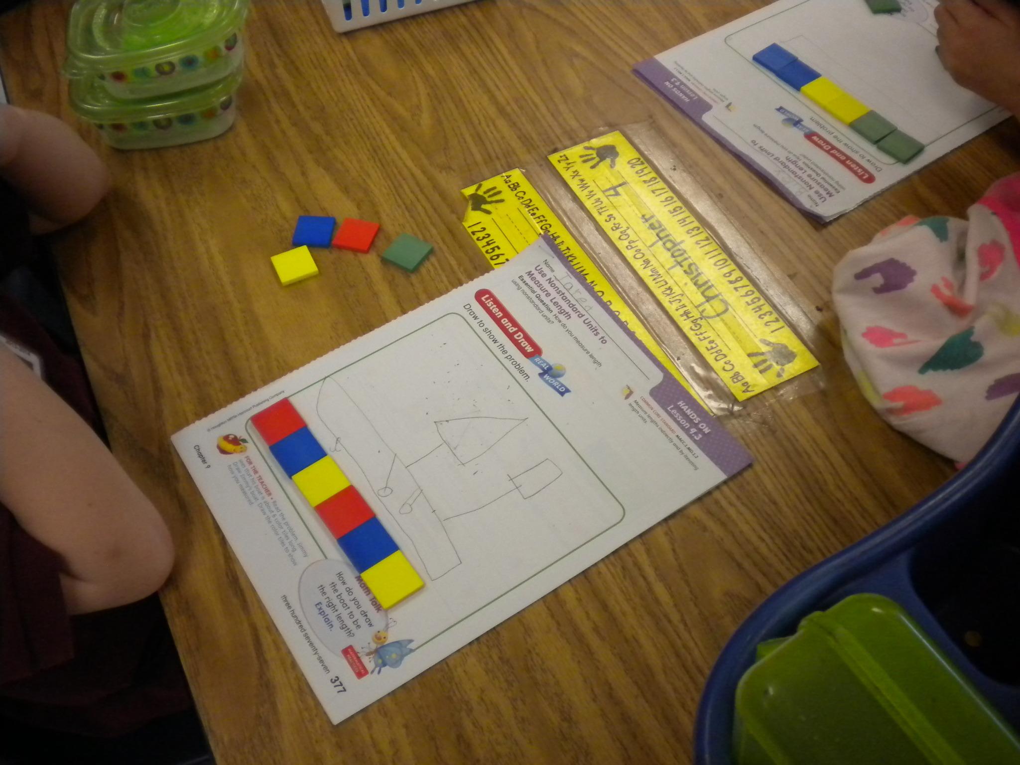 First Grade Lesson Use A Non Standard Unit To Measure