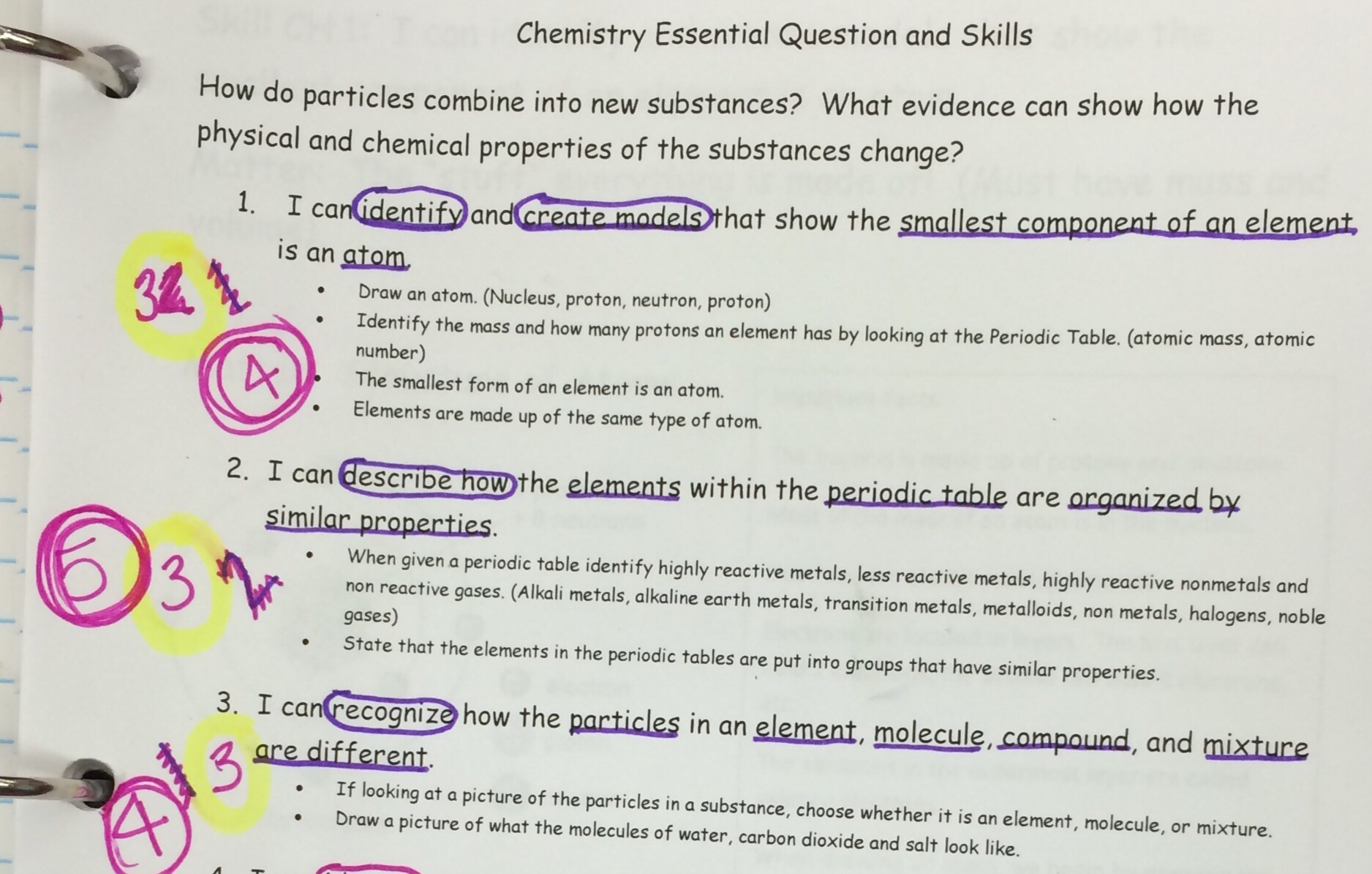 Elements And Compounds Worksheet 8th Grade