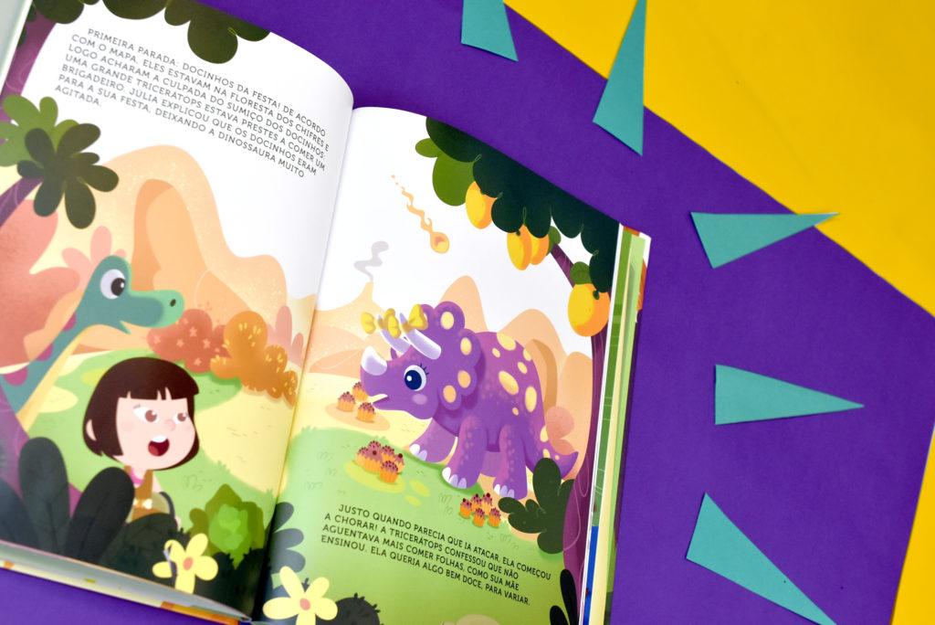 livro de dinossauro personalizado
