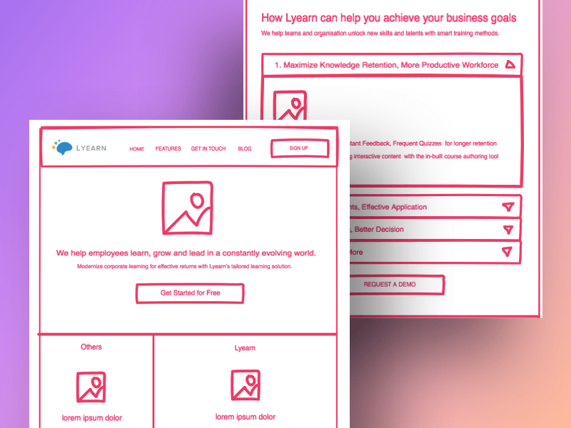 Wireframing example