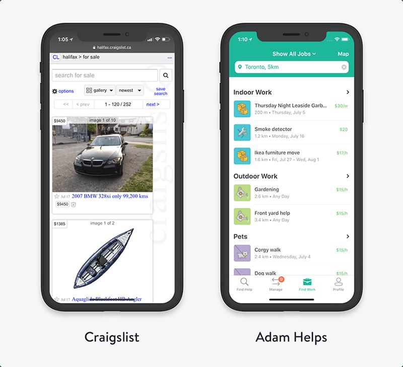 UX design research mobile app