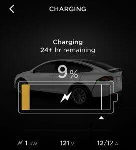 110v Charging App Screenshot