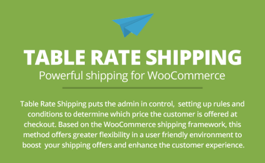 Table Rate Shipping for WooCommerce - 1