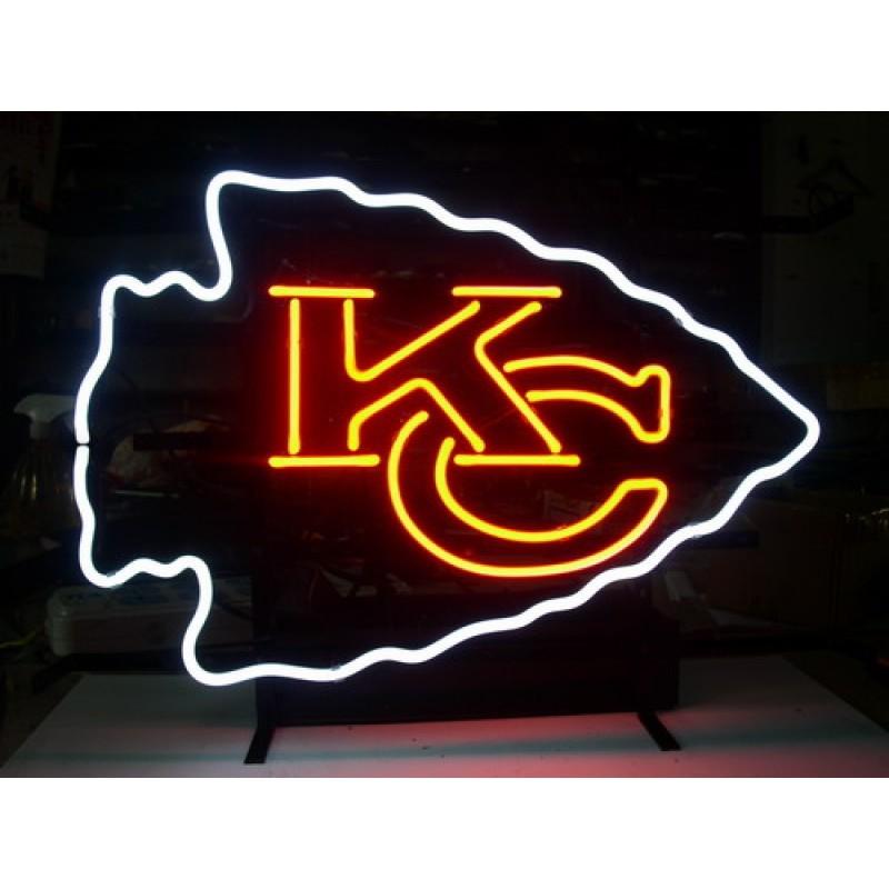NFL Kansas City KC Chiefs Beer Bar Neon Light Sign 15 X
