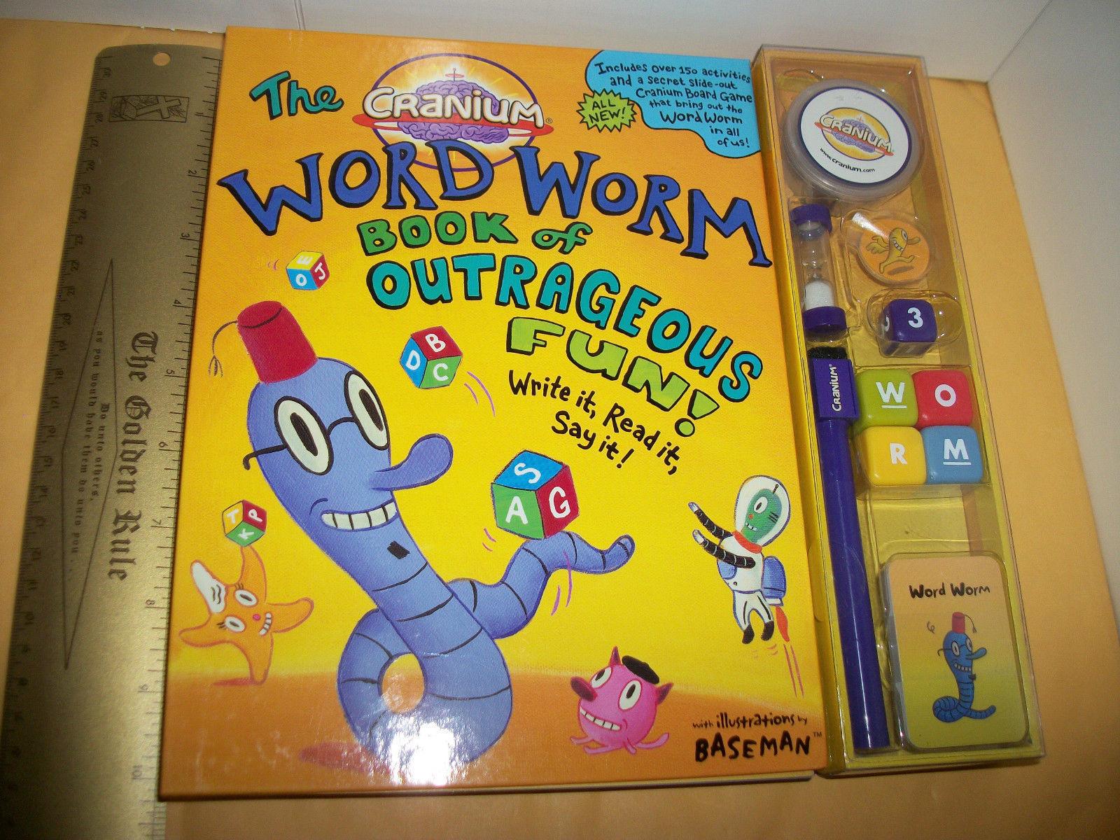 Cranium Educational Game Set Word Worm Book Of Outrageous Fun Craft Activity Kit