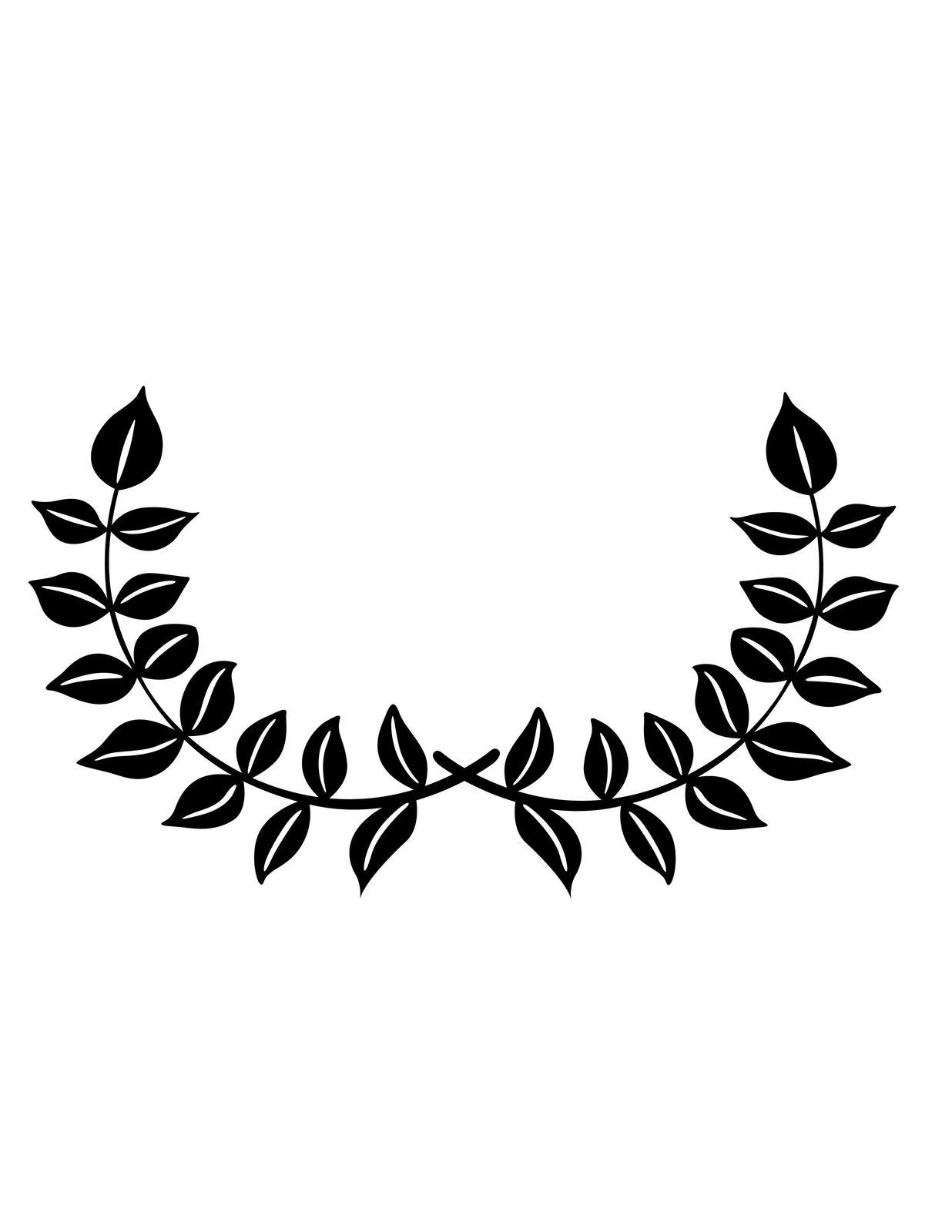 Vine Leafy Silhouette Black Digital Download Clipart