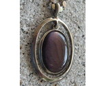 Purple Fluorite Pendant on 20 inch 925 Silver Chain