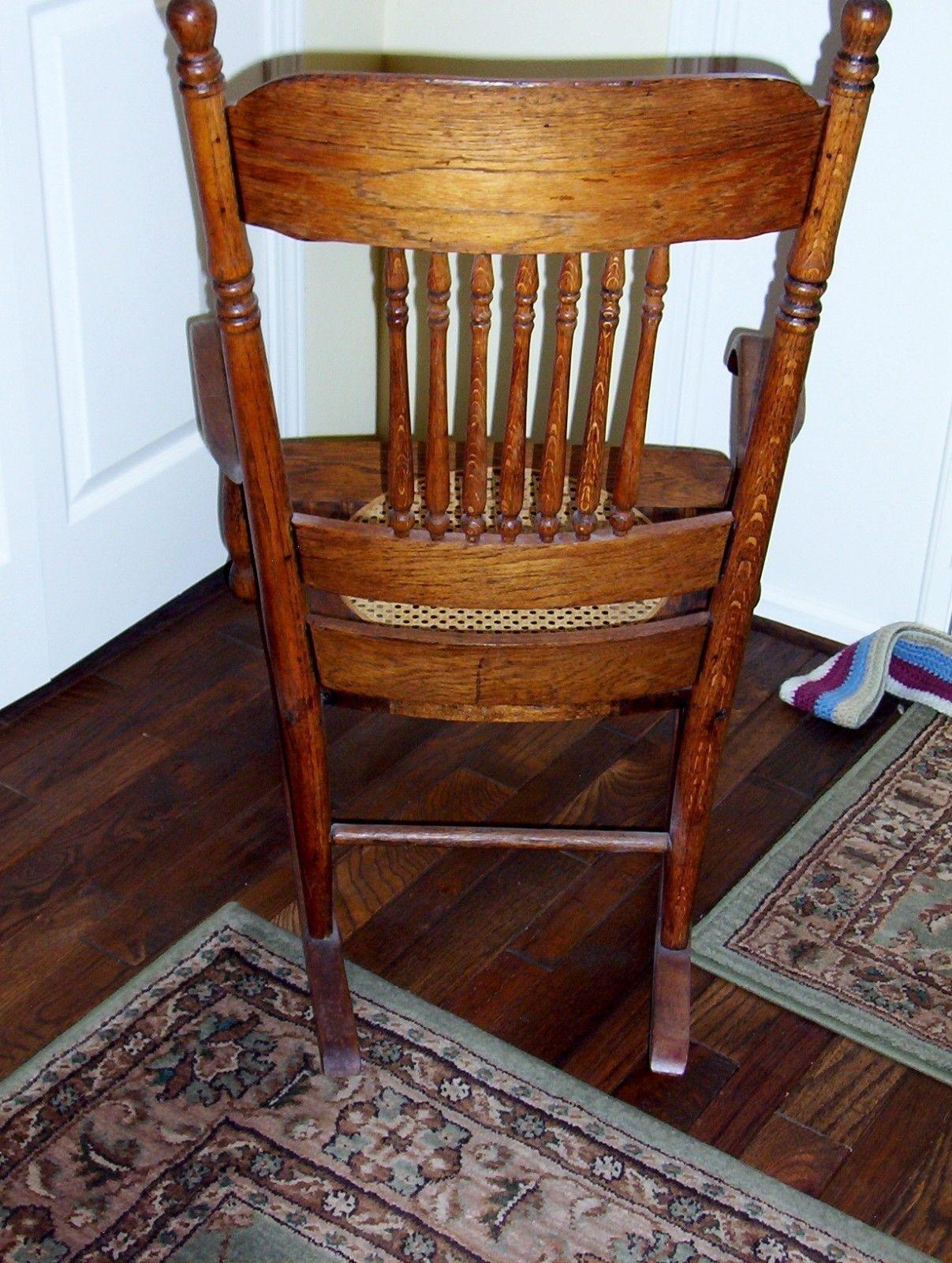Antique Values Cane Chair Rocking