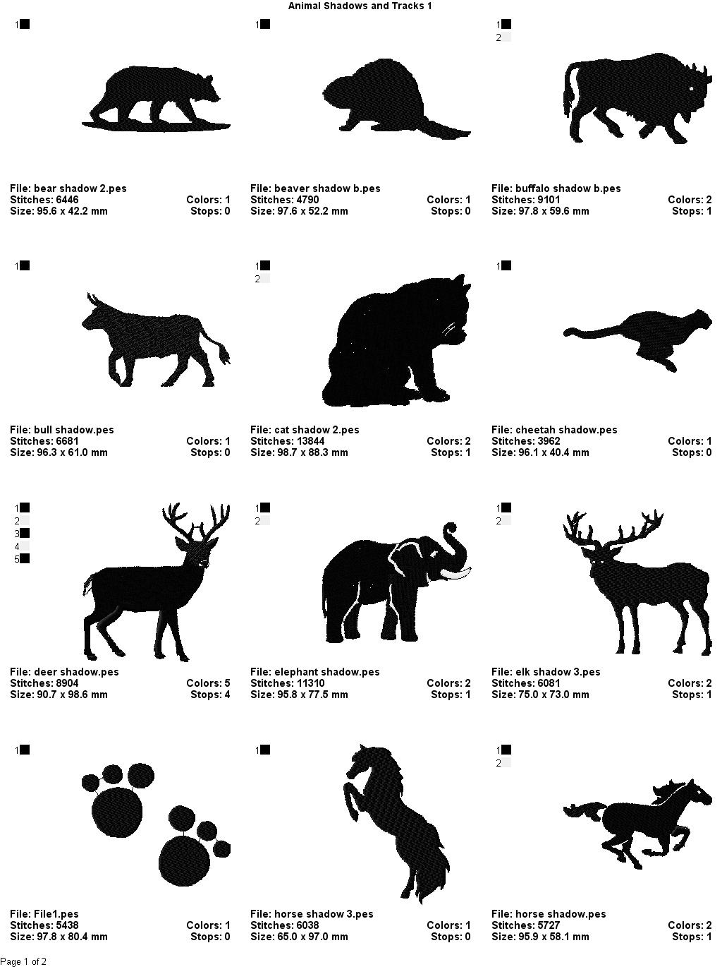 Animal Footprint Coloring Pages