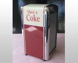 Coca Cola Coke Nostalgic Tall Napkin Dispenser, Full Size