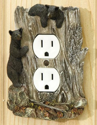 Rustic Outlet Cover Bear Switch Plates Amp Outlet Covers