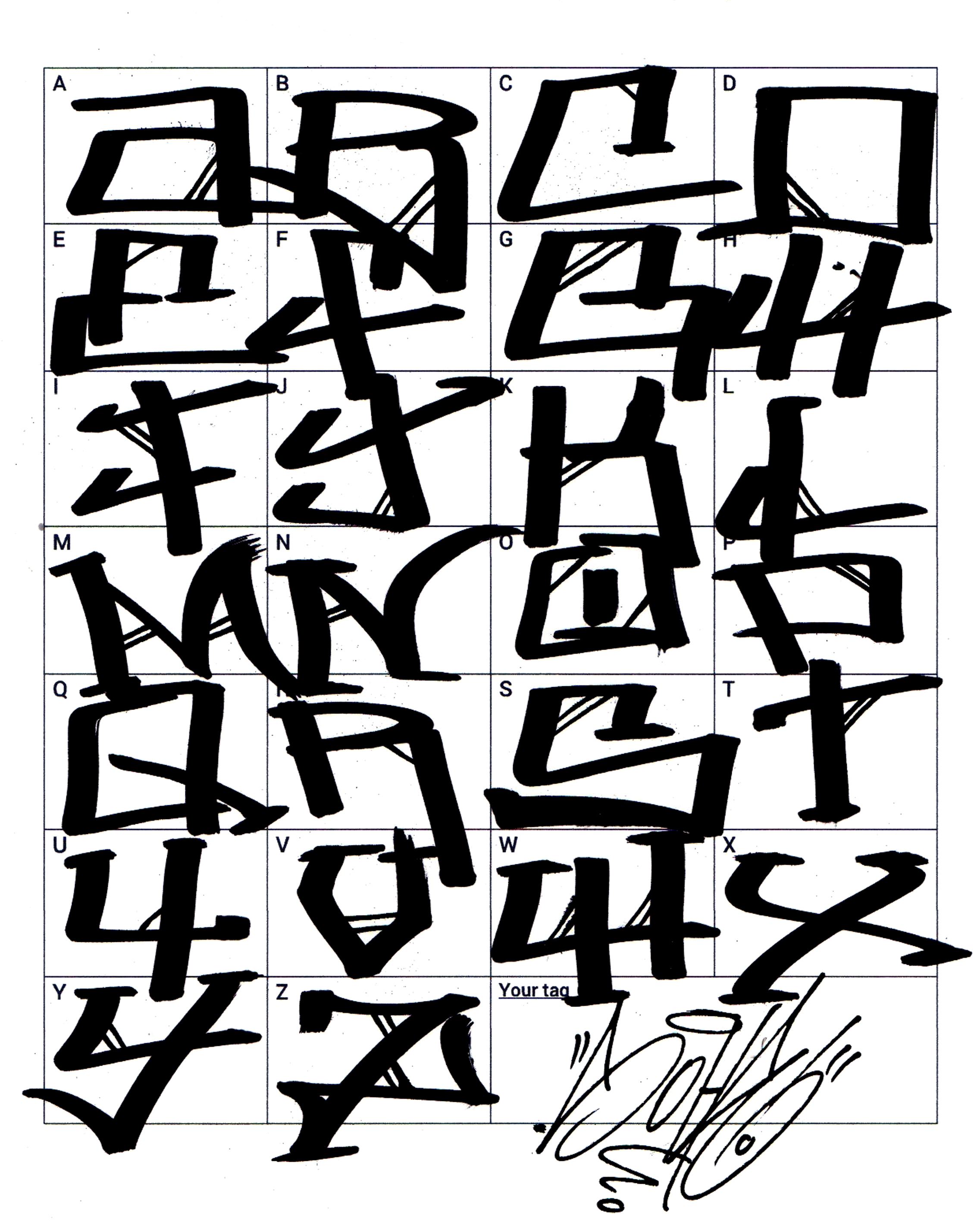 Graffiti Letter A In Writing T Graffiti